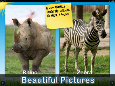 Zoo Sounds - Fun Educational Games for iPhone and iPad